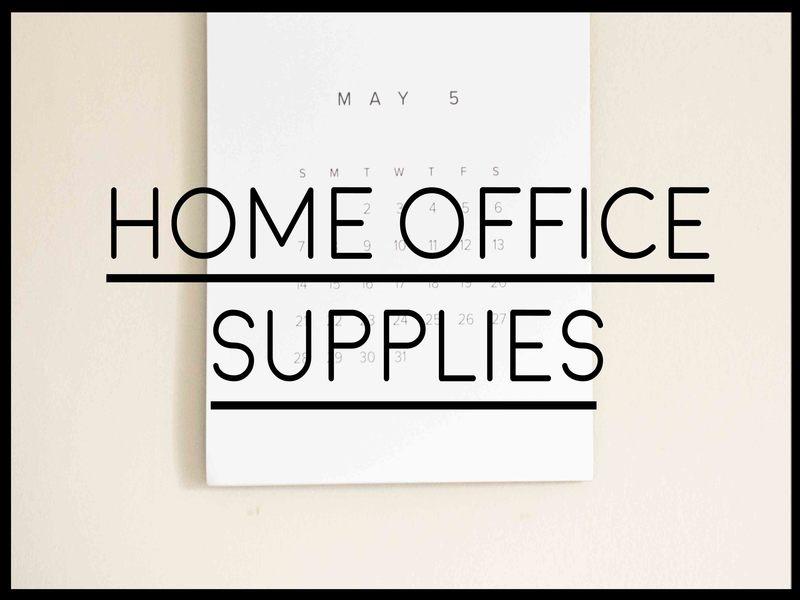 list of office supplies