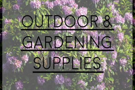 Ranked List Of Outdoor And Gardening Supplies For A New Home. U201c