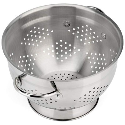 Raishi Classic Stainless Steel Deep Colander – 5 quart High Grade Quality
