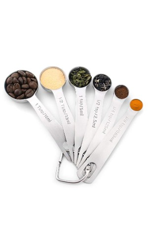 1Easylife Stainless Steel Measuring Spoons, Set of 6