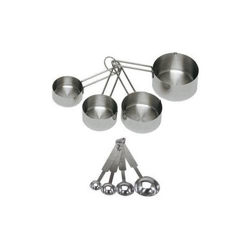ChefLand 8-Piece Stainless Steel Measuring Cups and Measuring Spoon Set