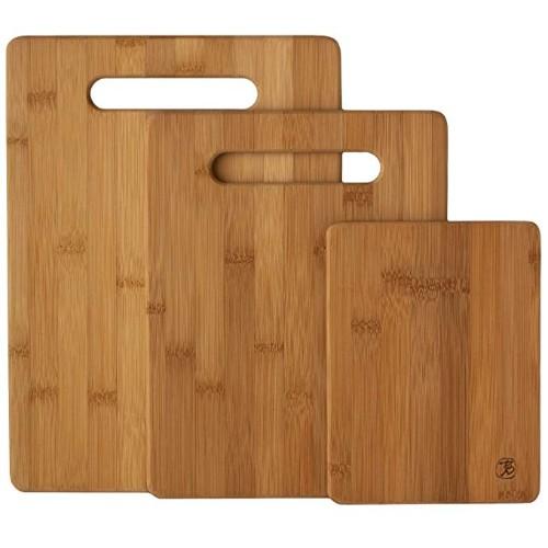 Totally Bamboo 3 Piece Bamboo Cutting Board Set