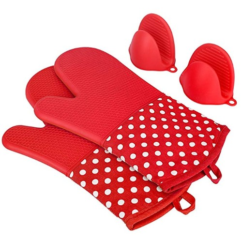Kedsum Heat Resistant Silicone Oven Mitts
