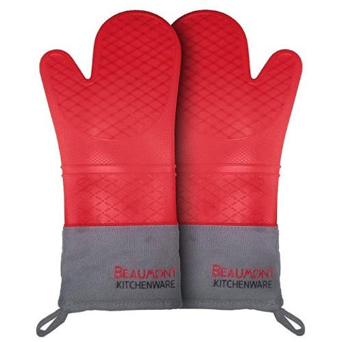 Beaumont Kitchenware Heat Resistant Silicone Oven Mitts