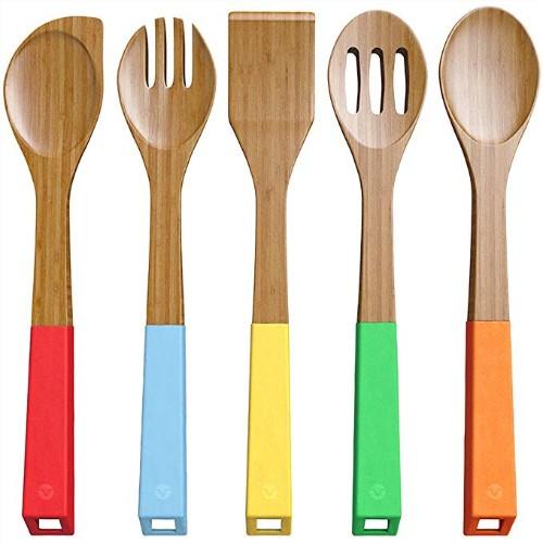 Vremi 5-Piece Bamboo Spoon Set