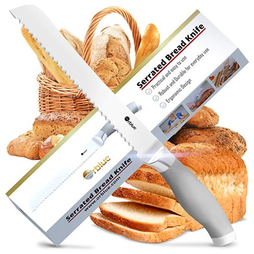 ORBLUE Stainless Steel Serrated Bread Slicer Knife