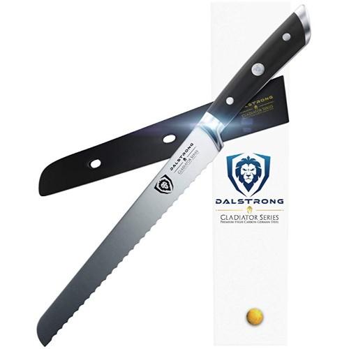 "Dalstrong Bread Knife – Gladiator Series German HC Steel 10"""