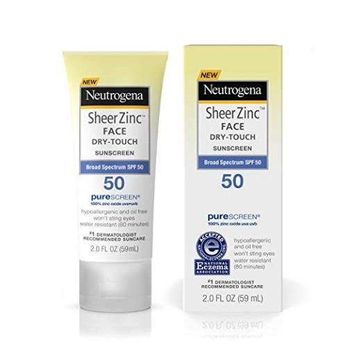 Neutrogena Sheer Zinc Face Dry-Touch Sunscreen SPF 50