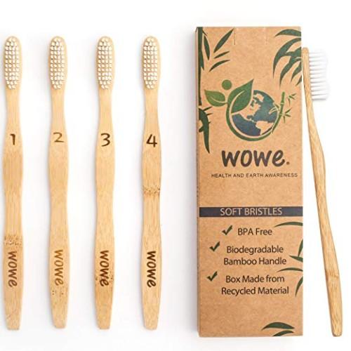 Wowe Organic Natural Bamboo Toothbrush
