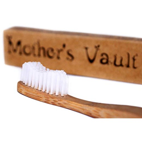 Mother's Vault Biodegradable, Eco-Friendly Bamboo Toothbrush