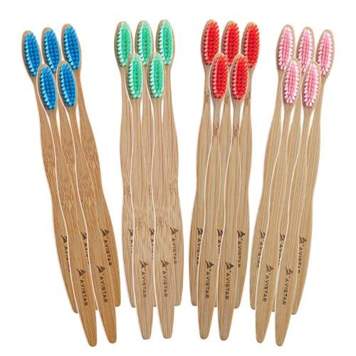 Avistar Natural Toothbrush Family Pack
