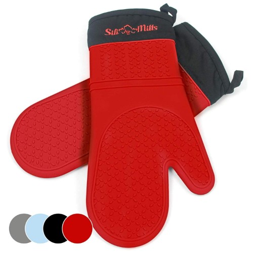 Frux Home and Yard Black Silicone Oven Mitts