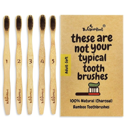 The Green Root Bamboo Toothbrush